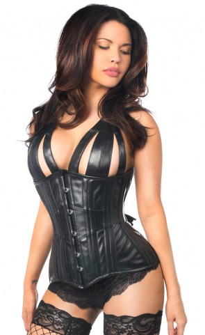Top Drawer Faux Leather Underbust Corset