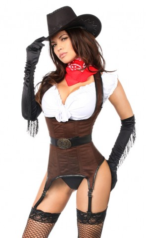 Ride 'em Cowgirl Premium Corset Costume