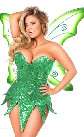 Green Sequin Fairy Dress Costume Plus Size