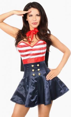 Pin-Up Sailor Corset Dress Costume
