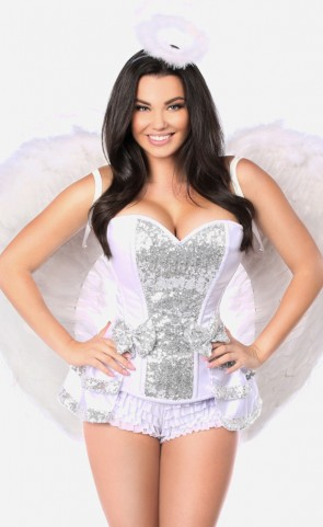 5 Piece Innocent Angel Corset Costume