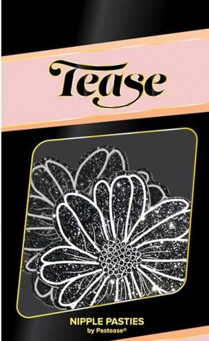 Tease Wildflower Black Glitter Pasties